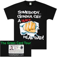 Somebody  Green Card Tour T-Shirt (Women's) image